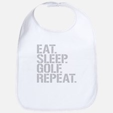 Eat Sleep Golf Repeat Bib
