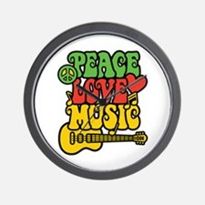 Peace-Love-Music Wall Clock