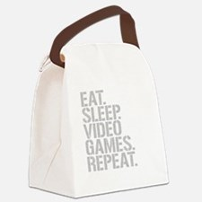 Eat Sleep Video Games Repeat Canvas Lunch Bag