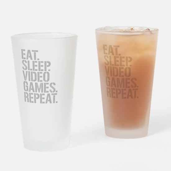 Eat Sleep Video Games Repeat Drinking Glass
