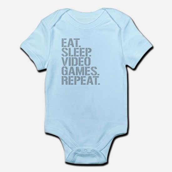 Eat Sleep Video Games Repeat Body Suit