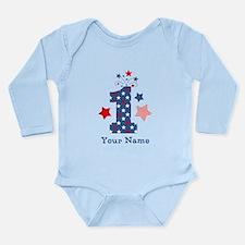 Firecracker 1st Birthd Long Sleeve Infant Bodysuit