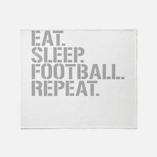 Eat Sleep Football Repeat Throw Blanket