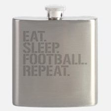 Eat Sleep Football Repeat Flask