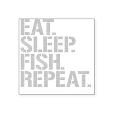Eat Sleep Fish Repeat Sticker