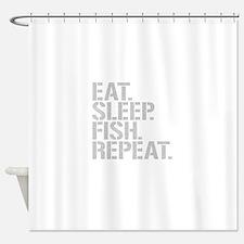 Eat Sleep Fish Repeat Shower Curtain