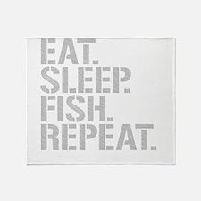 Eat Sleep Fish Repeat Throw Blanket