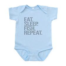 Eat Sleep Fish Repeat Body Suit