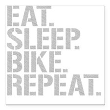 "Eat Sleep Bike Repeat Square Car Magnet 3"" x 3"""