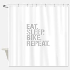 Eat Sleep Bike Repeat Shower Curtain