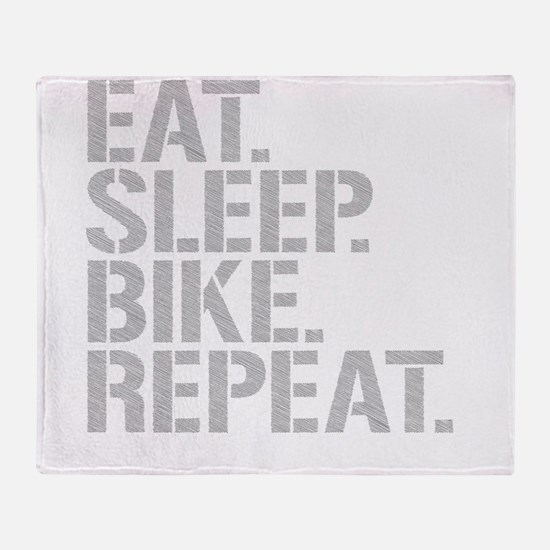 Eat Sleep Bike Repeat Throw Blanket