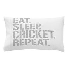 Eat Sleep Cricket Repeat Pillow Case