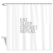 Eat Sleep Cricket Repeat Shower Curtain