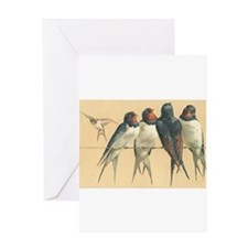 Birds-on-a-wire Greeting Cards