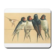 Birds-on-a-wire Mousepad