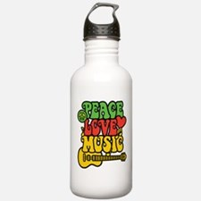 Peace-Love-Music Water Bottle