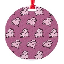 Cute Flying Pigs with Wings Ornament