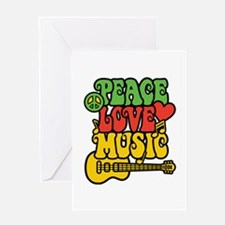 Peace-Love-Music Greeting Cards