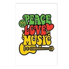 Peace-Love-Music Postcards (package Of 8)