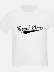 Mount Etna, Retro, T-Shirt