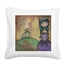The Frog Princess Square Canvas Pillow