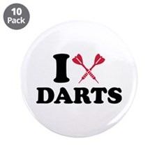 "I love Darts 3.5"" Button (10 pack)"