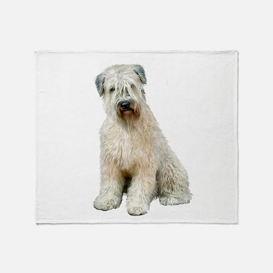 Wheaten Terrier (8) - sit Throw Blanket