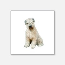 "Wheaten (sit) Square Sticker 3"" x 3"""