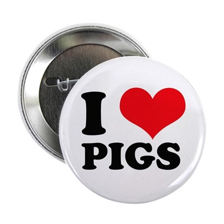 I Heart Pigs Button