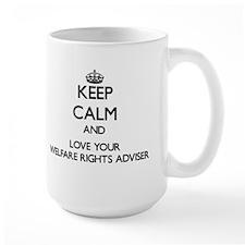 Keep Calm and Love your Welfare Rights Adviser Mug