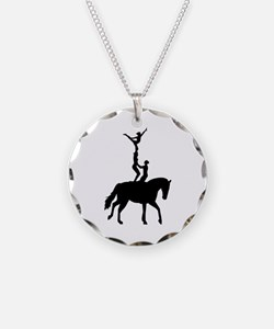 Vaulting dressage Necklace Circle Charm