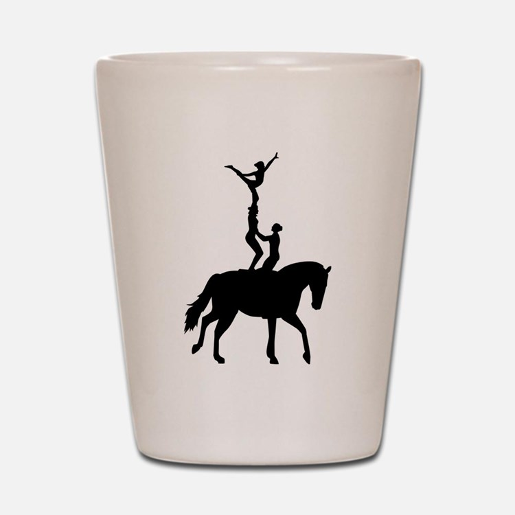 Vaulting dressage Shot Glass
