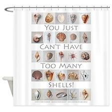 Too Many Shells! Shower Curtain