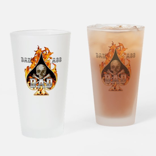 Bad Ass Dad Drinking Glass