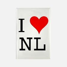 I Love NL Rectangle Magnet