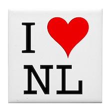 I Love NL Tile Coaster