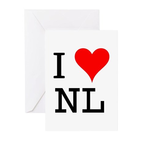 I Love NL Greeting Cards (Pk of 10)