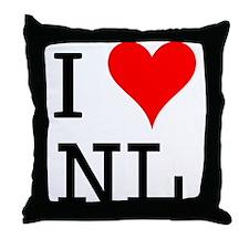 I Love NL Throw Pillow
