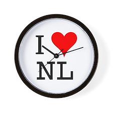 I Love NL Wall Clock