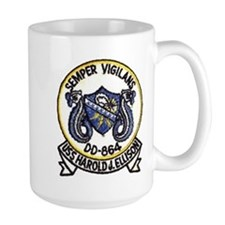 uss harold j. ellison patch transparent Mugs