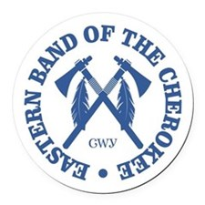 Cherokee (Eastern Band) Round Car Magnet