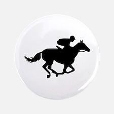 "Horse race racing 3.5"" Button"