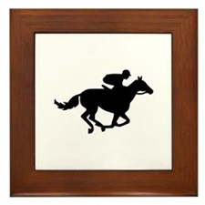 Horse race racing Framed Tile