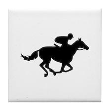 Horse race racing Tile Coaster