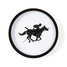 Horse race racing Wall Clock