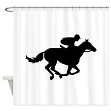 Horse race racing Shower Curtain