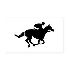 Horse race racing Rectangle Car Magnet