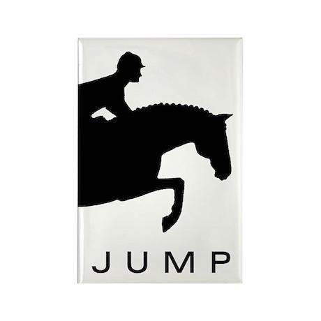 """JUMP"" Hunter Jumper Rectangle Magnet"
