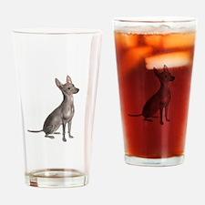 Xoloitzcuintle (B) Drinking Glass