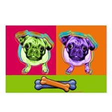 Funny Pug Postcards (Package of 8)